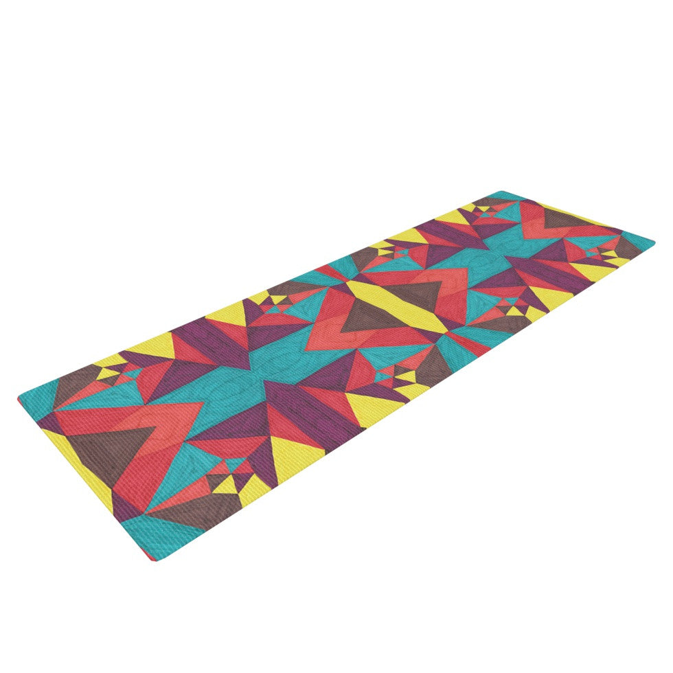 "Empire Ruhl ""Abstract Insects"" Multicolor Yoga Mat - KESS InHouse  - 1"