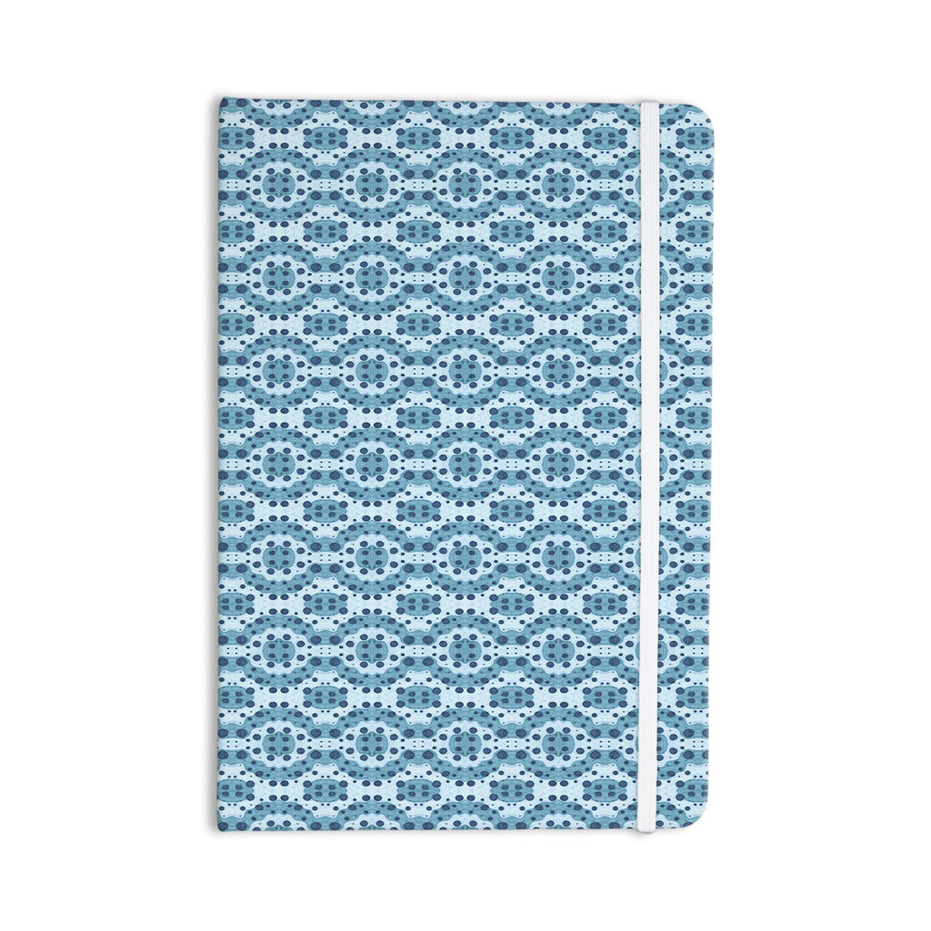 "Empire Ruhl ""Blue Circle Abstract"" Navy Geometric Everything Notebook - KESS InHouse  - 1"