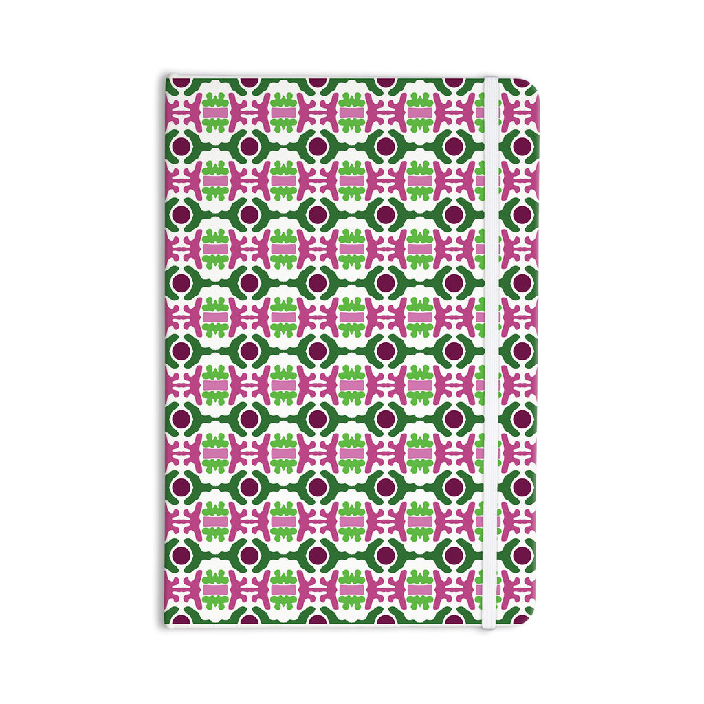 "Empire Ruhl ""Island Dreaming Abstract"" Pink Green Everything Notebook - KESS InHouse  - 1"