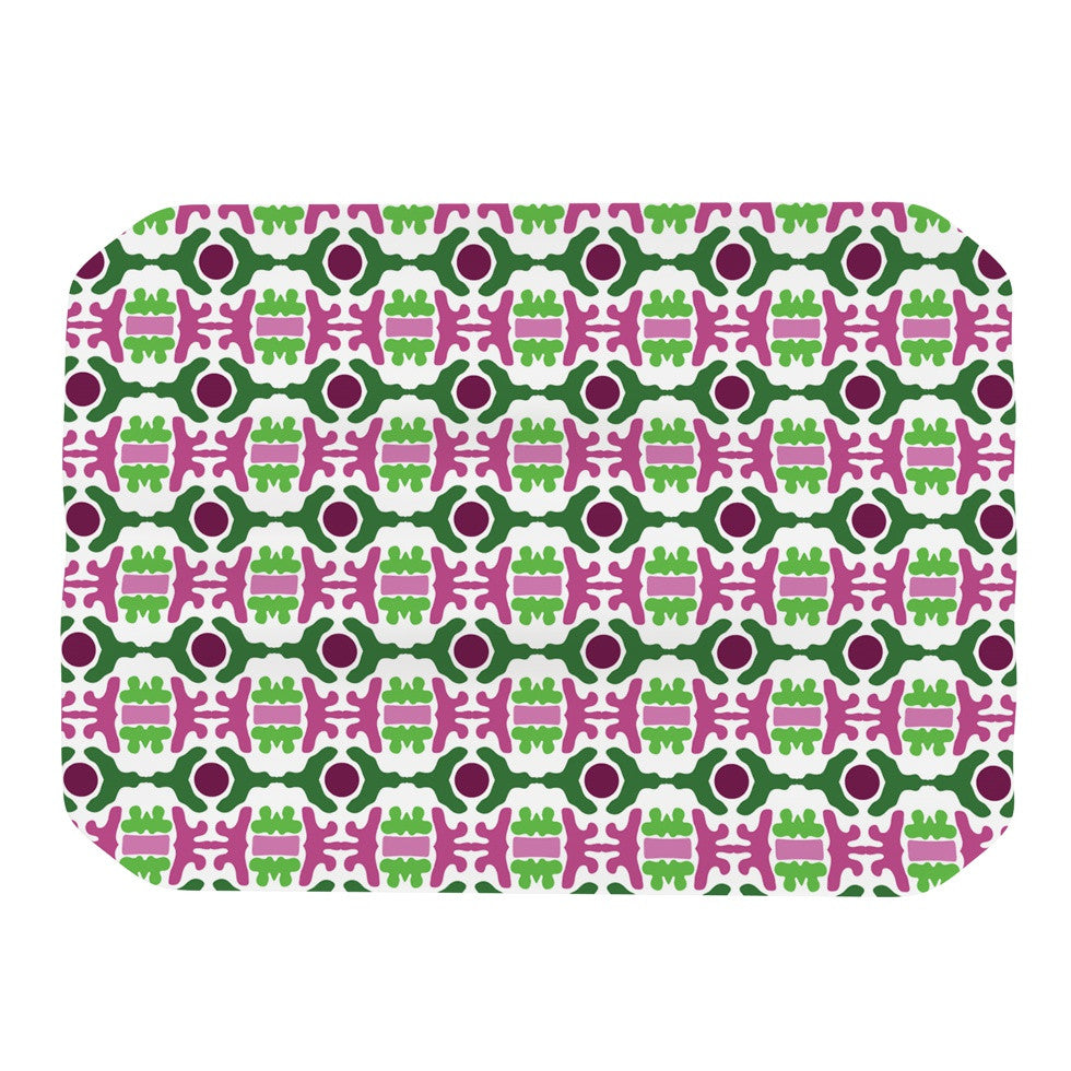 "Empire Ruhl ""Island Dreaming Abstract"" Pink Green Place Mat - KESS InHouse"