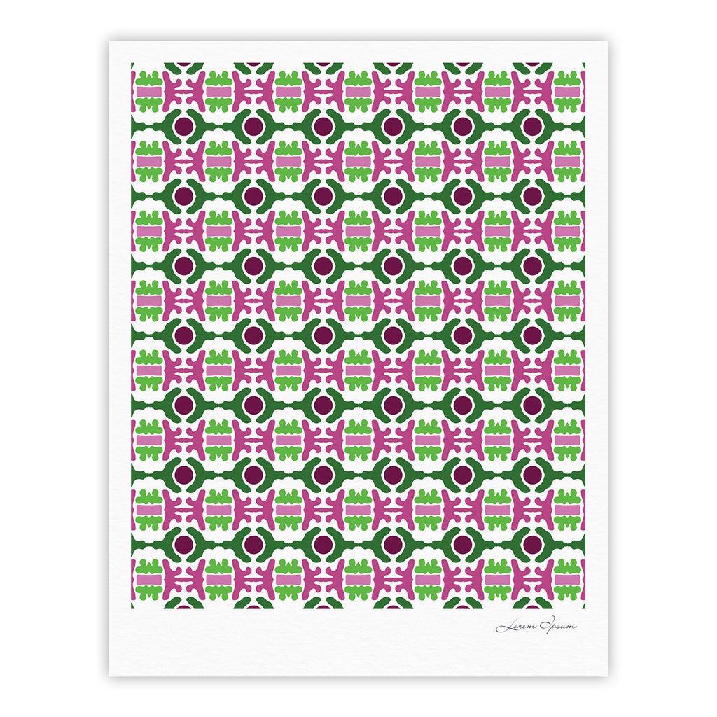 "Empire Ruhl ""Island Dreaming Abstract"" Pink Green Fine Art Gallery Print - KESS InHouse"