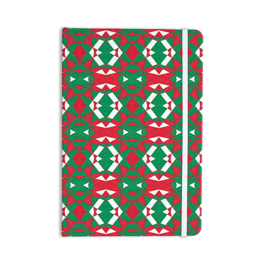 "Empire Ruhl ""Christmas Geo"" Red Green Everything Notebook - KESS InHouse  - 1"