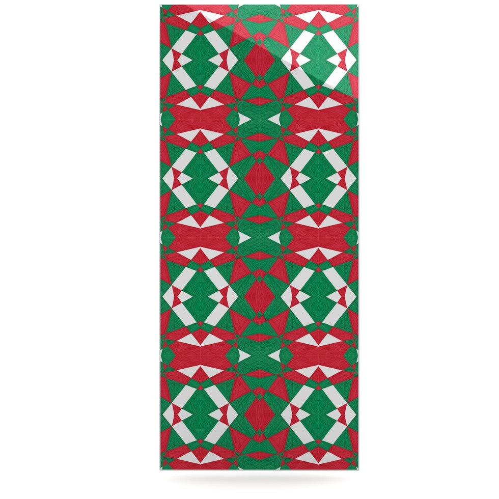 "Empire Ruhl ""Christmas Geo"" Red Green Luxe Rectangle Panel - KESS InHouse  - 1"