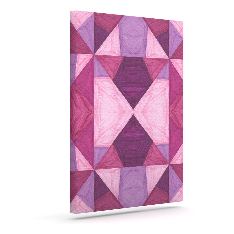 "Empire Ruhl ""Purple Angles"" Pink Geometric Canvas Art - KESS InHouse  - 1"