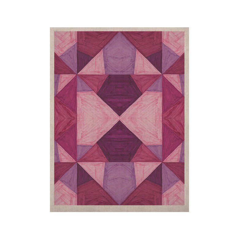 "Empire Ruhl ""Purple Angles"" Pink Geometric KESS Naturals Canvas (Frame not Included) - KESS InHouse  - 1"