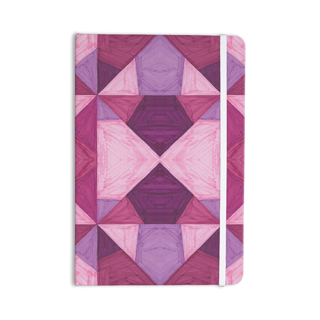 "Empire Ruhl ""Purple Angles"" Pink Geometric Everything Notebook - KESS InHouse  - 1"