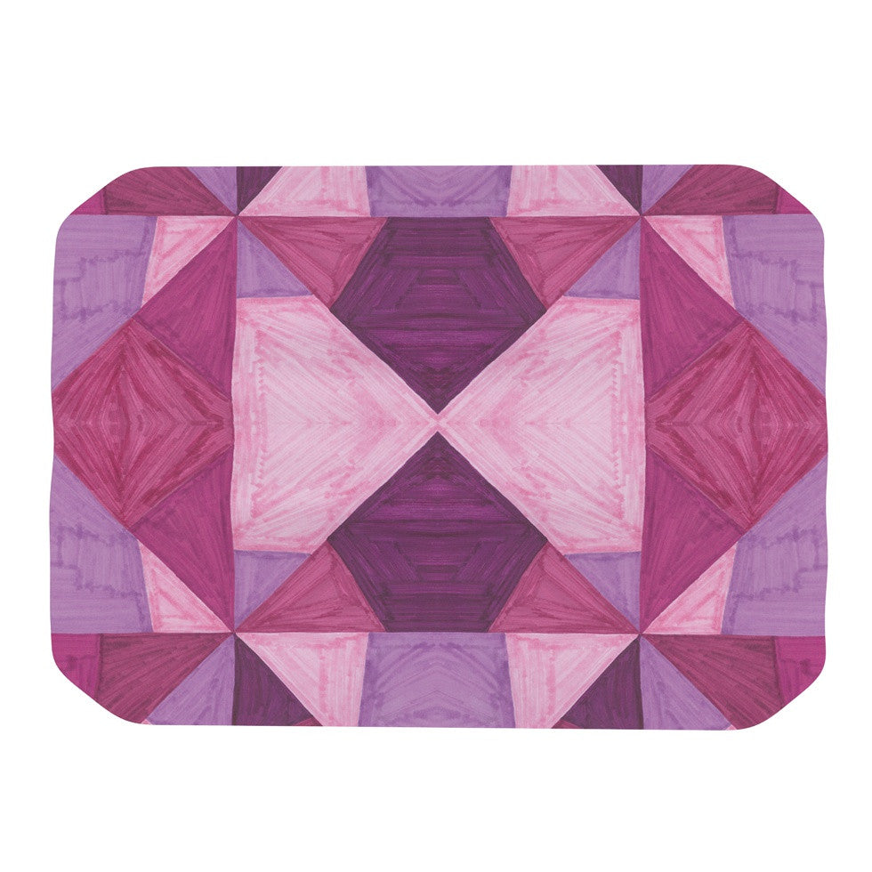 "Empire Ruhl ""Purple Angles"" Pink Geometric Place Mat - KESS InHouse"
