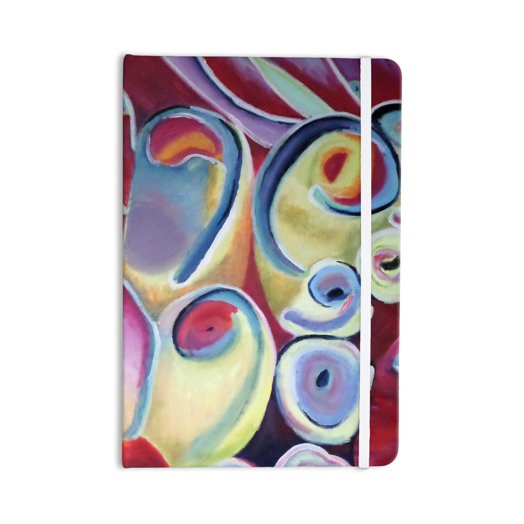 "Cathy Rodgers ""Groovy"" Rainbow Flowers Everything Notebook - KESS InHouse  - 1"