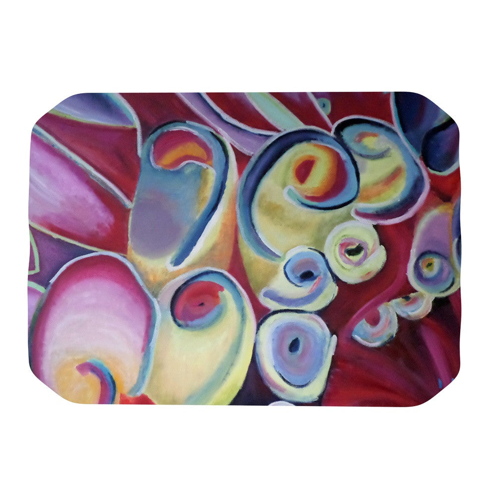 "Cathy Rodgers ""Groovy"" Rainbow Flowers Place Mat - KESS InHouse"
