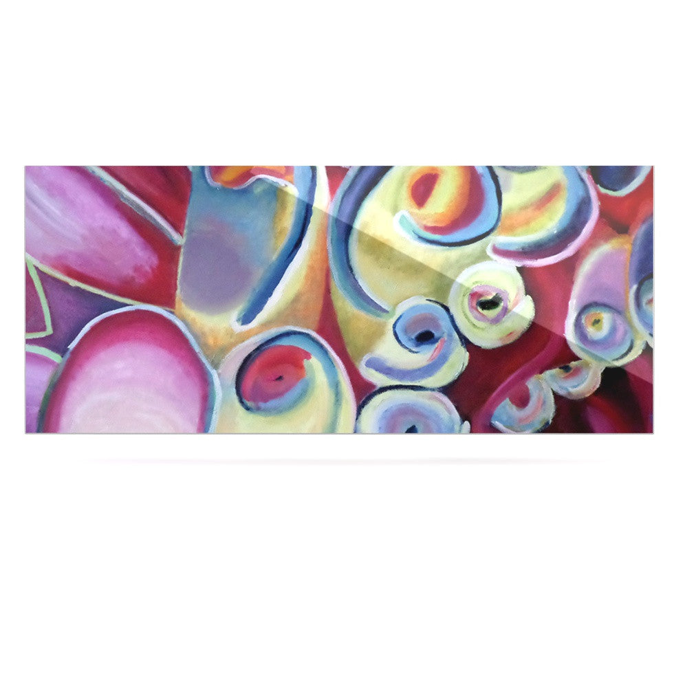 "Cathy Rodgers ""Groovy"" Rainbow Flowers Luxe Rectangle Panel - KESS InHouse  - 1"