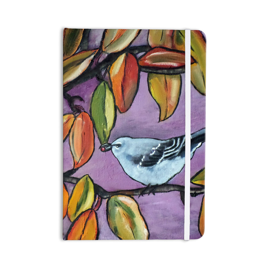 "Cathy Rodgers ""Mockingbird"" Purple Orange Everything Notebook - KESS InHouse  - 1"