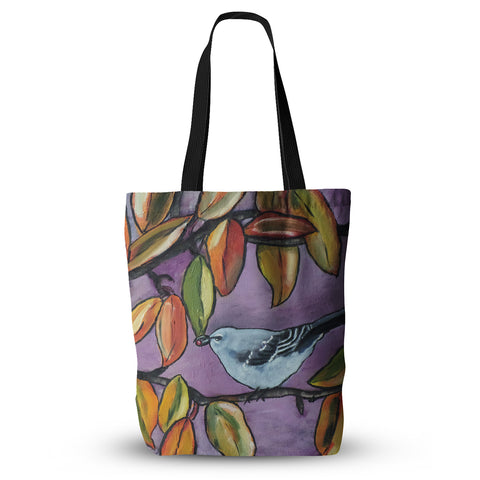 "Cathy Rodgers ""Mockingbird"" Purple Orange Everything Tote Bag - KESS InHouse  - 1"