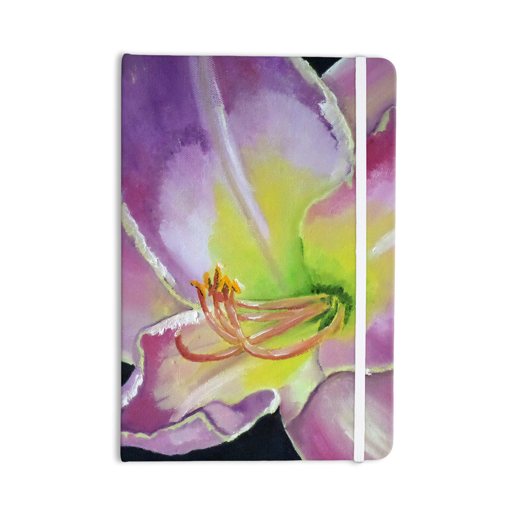 "Cathy Rodgers ""Violet and Lemon"" Purple Green Everything Notebook - KESS InHouse  - 1"