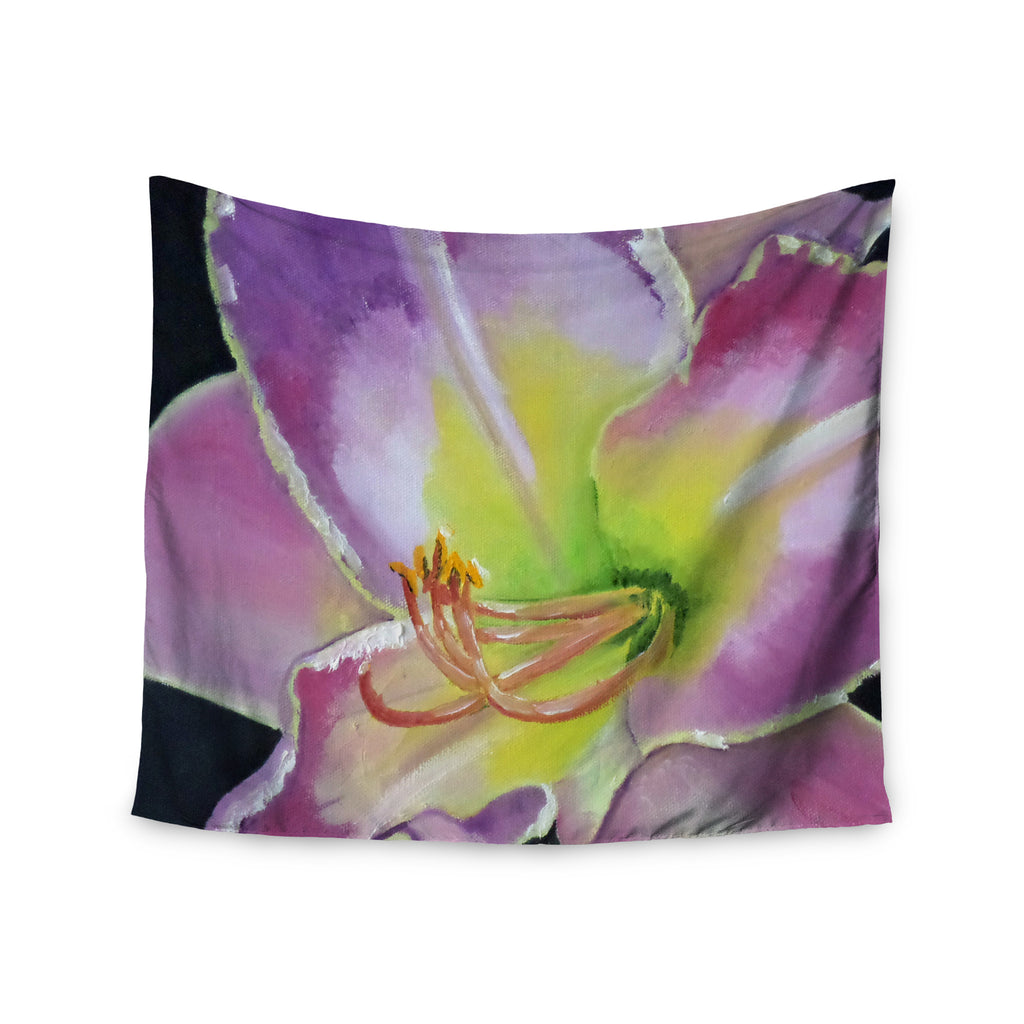 "Cathy Rodgers ""Violet and Lemon"" Purple Green Wall Tapestry - KESS InHouse  - 1"
