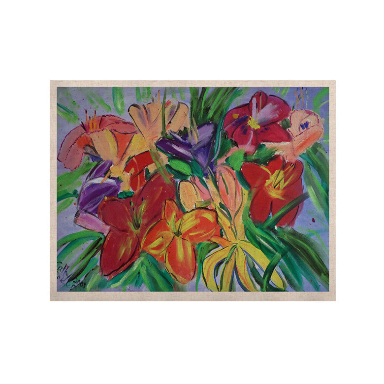 "Cathy Rodgers ""Matisse Styled Lillies"" Rainbow Flower KESS Naturals Canvas (Frame not Included) - KESS InHouse  - 1"