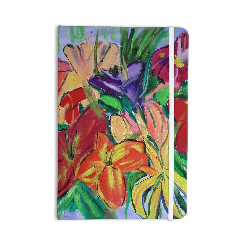 "Cathy Rodgers ""Matisse Styled Lillies"" Rainbow Flower Everything Notebook - KESS InHouse  - 1"