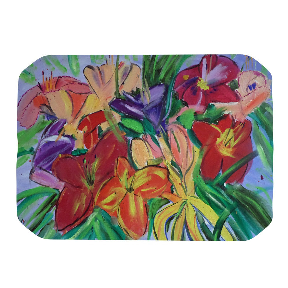 "Cathy Rodgers ""Matisse Styled Lillies"" Rainbow Flower Place Mat - KESS InHouse"
