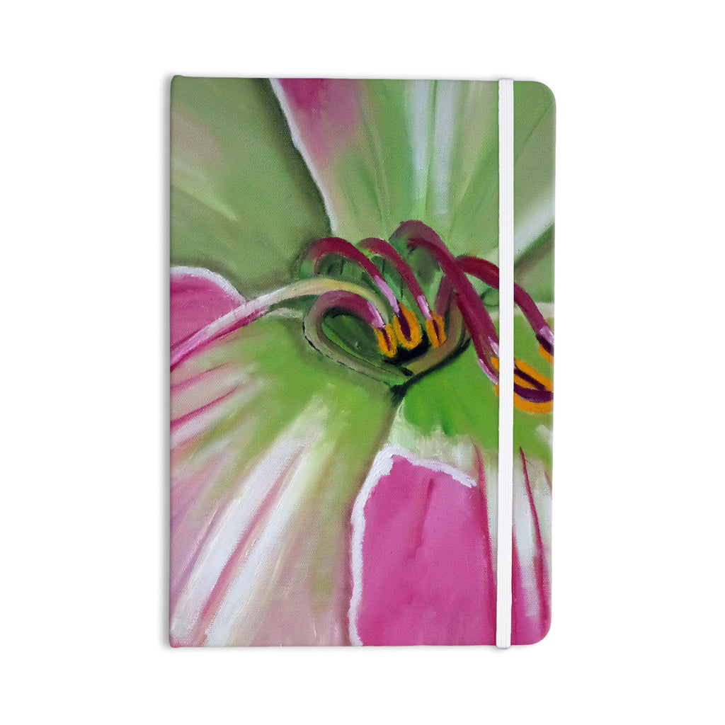 "Cathy Rodgers ""Pink and Green"" Flower Everything Notebook - KESS InHouse  - 1"