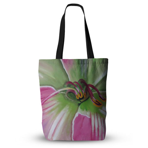 "Cathy Rodgers ""Pink and Green"" Flower Everything Tote Bag - KESS InHouse  - 1"