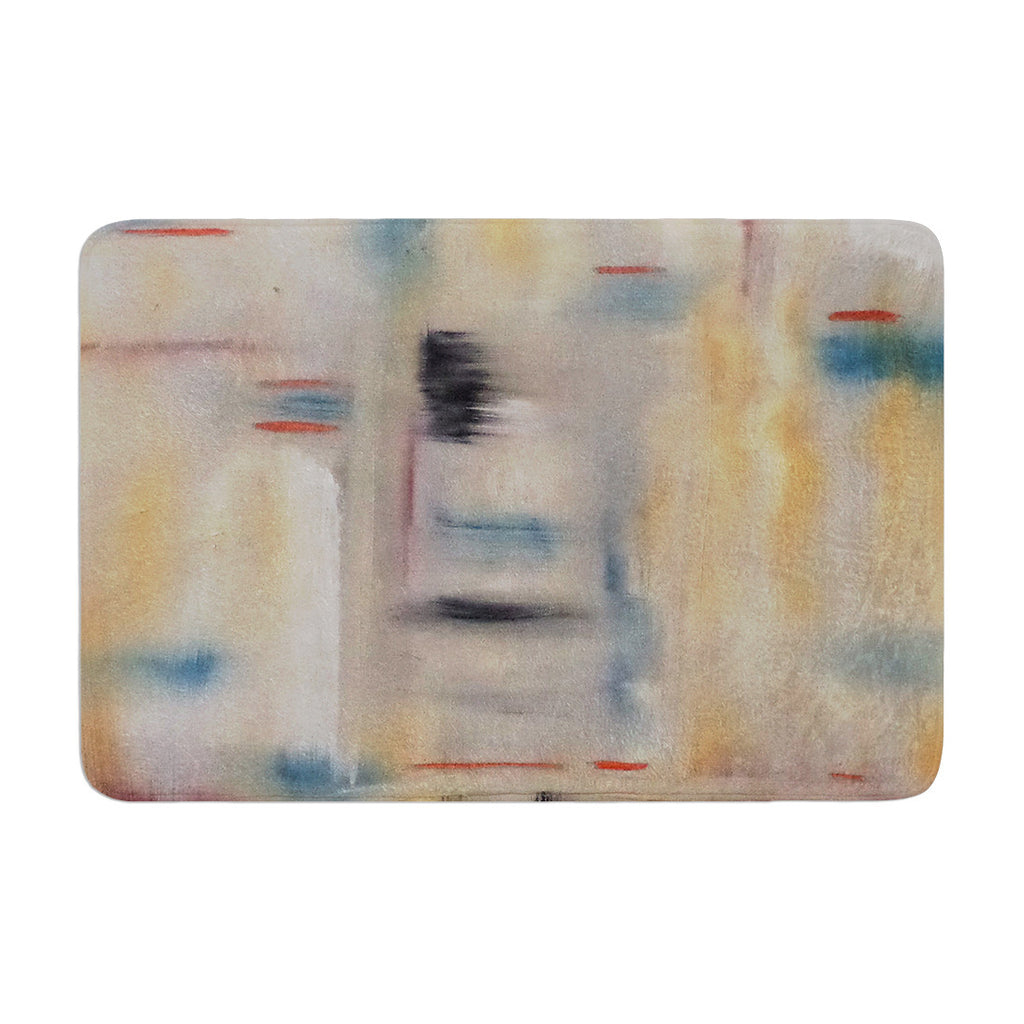 "Cathy Rodgers ""Library"" Painting Abstract Memory Foam Bath Mat - KESS InHouse"