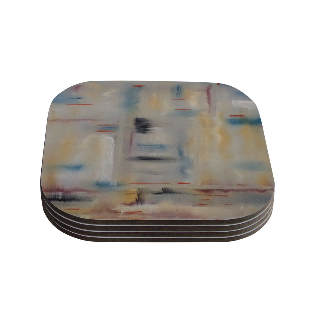 "Cathy Rodgers ""Library"" Painting Abstract Coasters (Set of 4)"