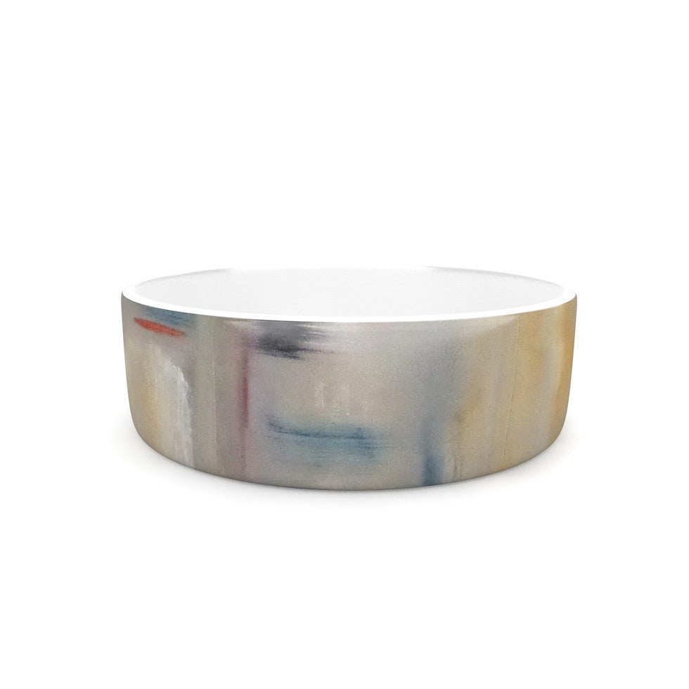 "Cathy Rodgers ""Library"" Painting Abstract Pet Bowl - KESS InHouse"