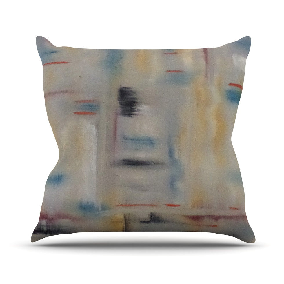 "Cathy Rodgers ""Library"" Painting Abstract Outdoor Throw Pillow - KESS InHouse  - 1"