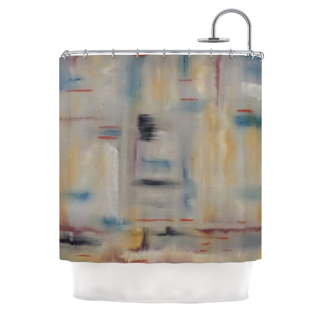 "Cathy Rodgers ""Library"" Painting Abstract Shower Curtain - KESS InHouse"