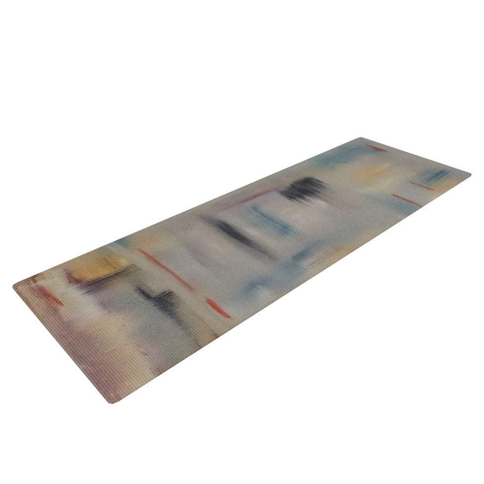 "Cathy Rodgers ""Library"" Painting Abstract Yoga Mat - KESS InHouse  - 1"