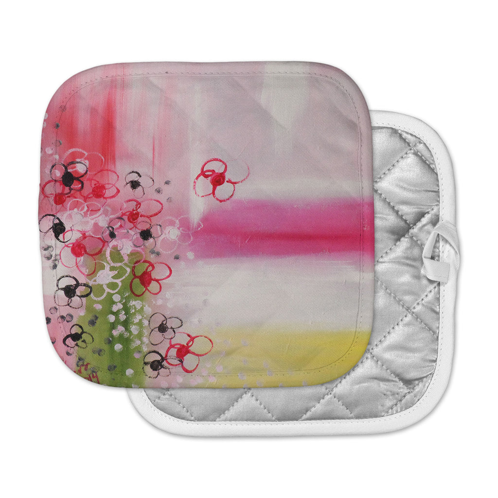 "Cathy Rodgers ""Spring Dreams"" Pink Yellow Pot Holder"