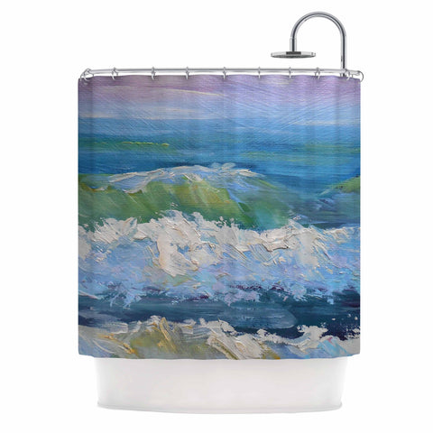 "Carol Schiff ""The Pastel Sea"" Purple Blue Shower Curtain - Outlet Item"