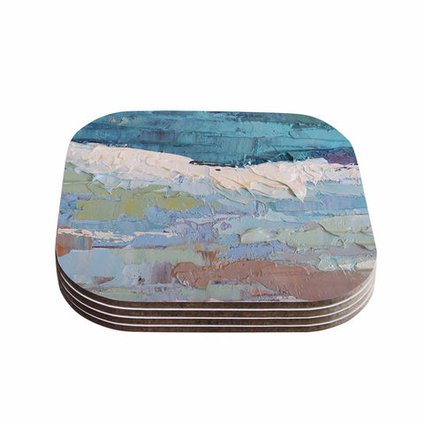 "Carol Schiff ""Surf Dreams"" Blue Painting Coasters (Set of 4)"