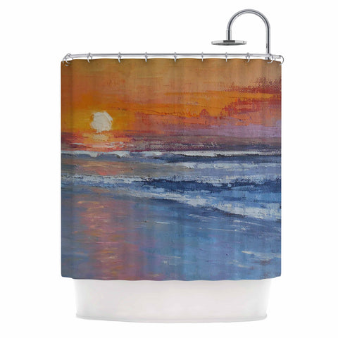 "Carol Schiff ""The Sinking Sun""  Shower Curtain - Outlet Item"