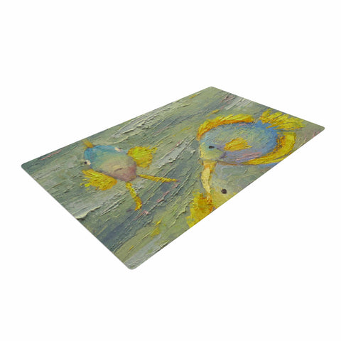 "Carol Schiff ""Something Fishy""  Woven Area Rug - Outlet Item"
