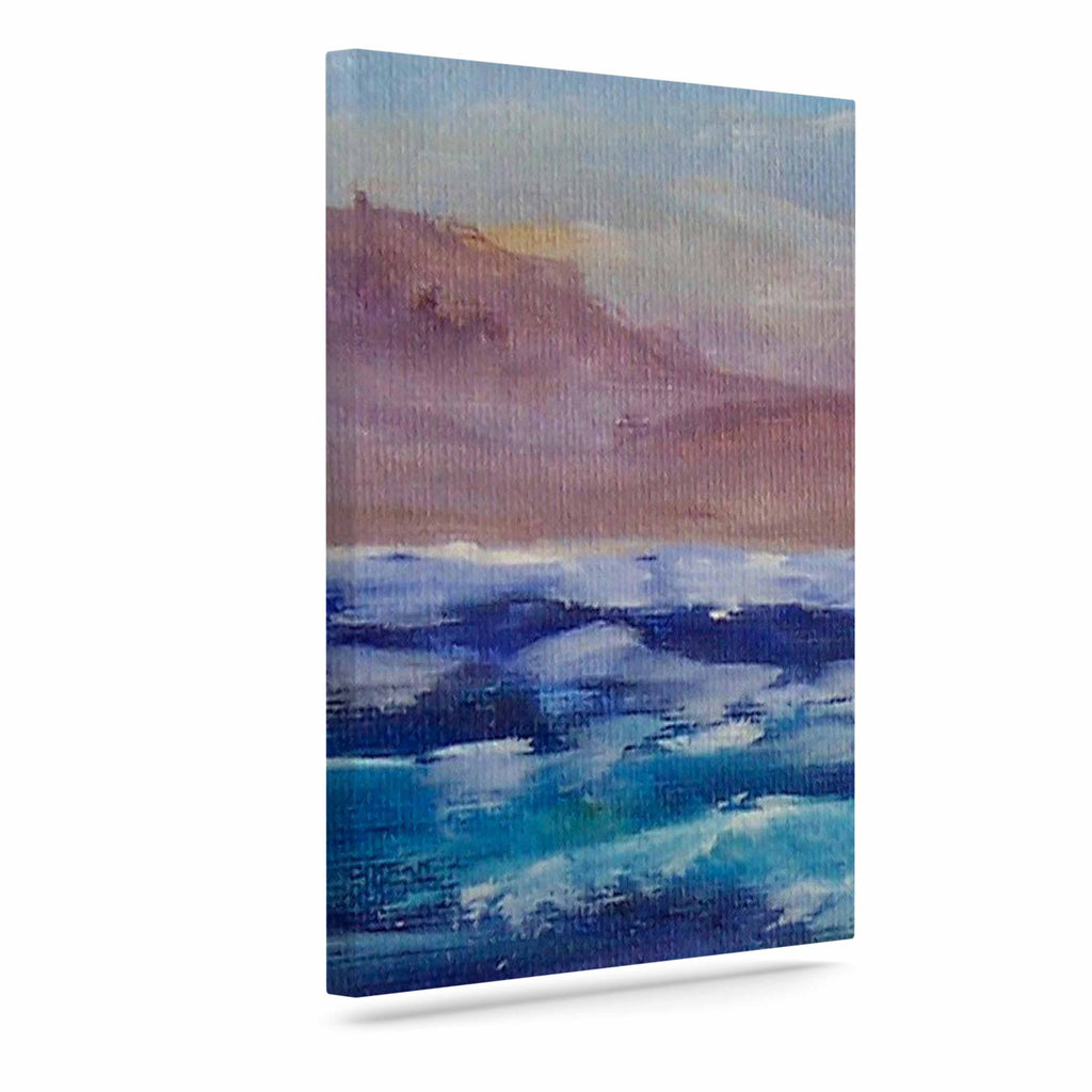 "Cyndi Steen ""Beach Dreams"" Blue Brown Canvas Art - KESS InHouse  - 1"