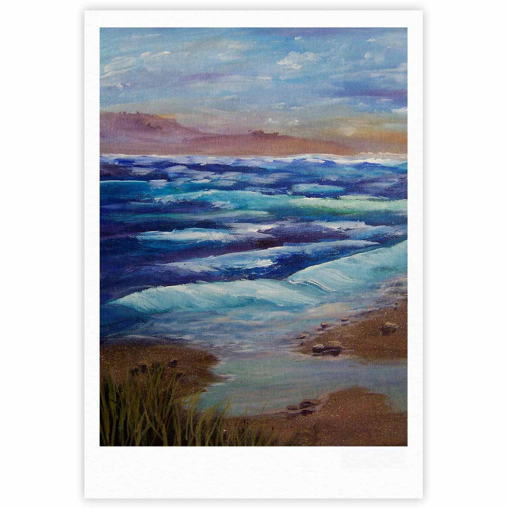 "Cyndi Steen ""Beach Dreams"" Blue Brown Fine Art Gallery Print - KESS InHouse"