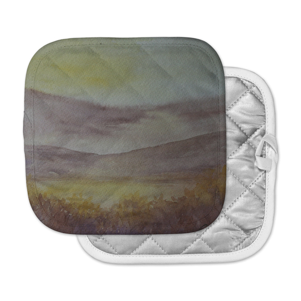 "Cyndi Steen ""Mauve Sunset"" Pink Nature Pot Holder"
