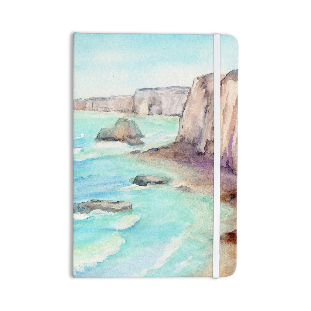 "Cyndi Steen ""Cliffs At Normandie"" Blue Travel Everything Notebook - KESS InHouse  - 1"