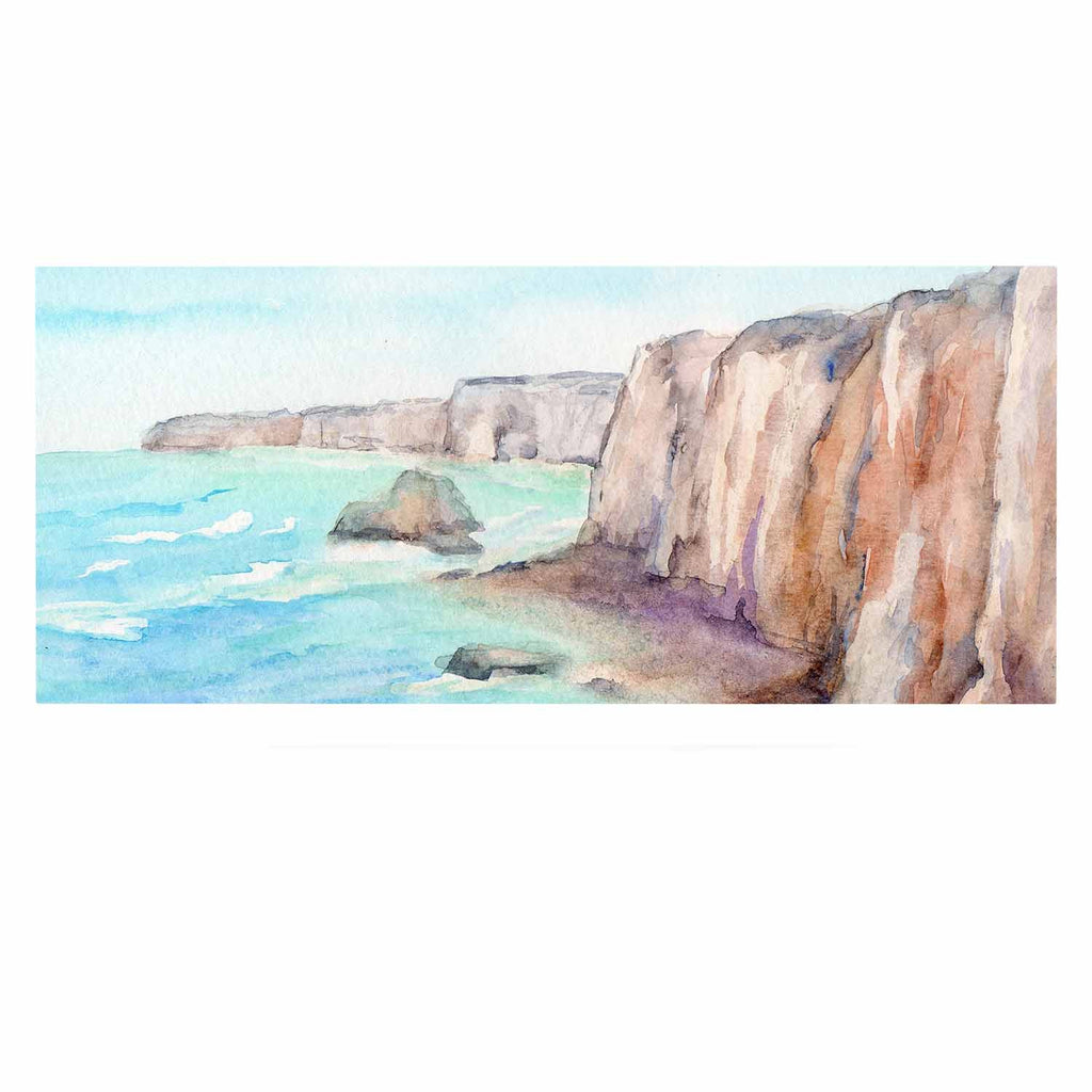 "Cyndi Steen ""Cliffs At Normandie"" Blue Travel Luxe Rectangle Panel - KESS InHouse  - 1"