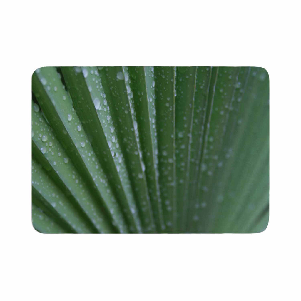 "Cyndi Steen ""Green Palm Frond"" Green Nature Memory Foam Bath Mat - KESS InHouse"