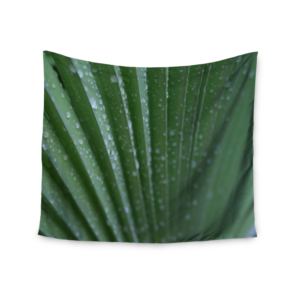 "Cyndi Steen ""Green Palm Frond"" Green Nature Wall Tapestry - KESS InHouse  - 1"