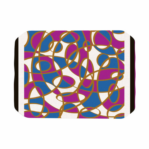 "Cyndi Steen ""Carousel"" Blue Pink Digital Place Mat"