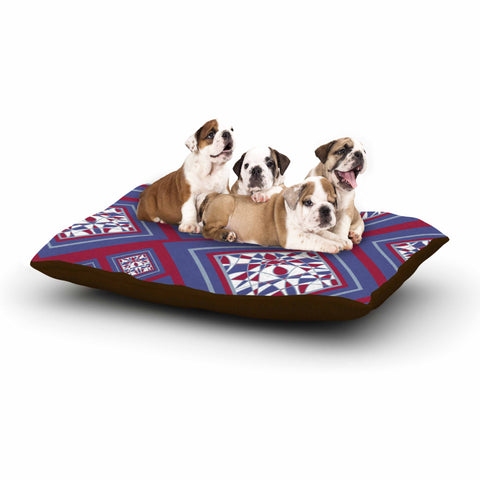 "Cyndi Steen ""Camelot"" Blue Multicolor Digital Dog Bed"