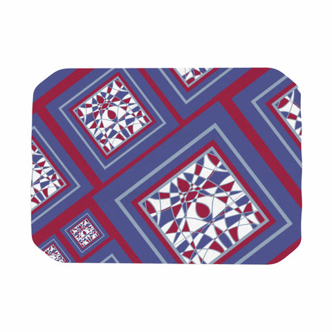 "Cyndi Steen ""Camelot"" Blue Multicolor Digital Place Mat"