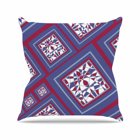 "Cyndi Steen ""Camelot"" Blue Multicolor Digital Throw Pillow"