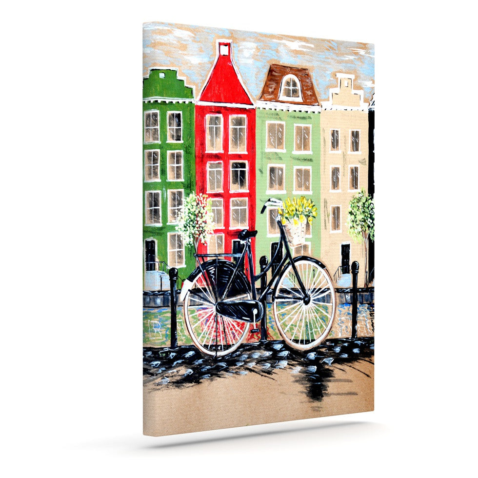"Christen Treat ""Bicycle"" Outdoor Canvas Wall Art - KESS InHouse  - 1"