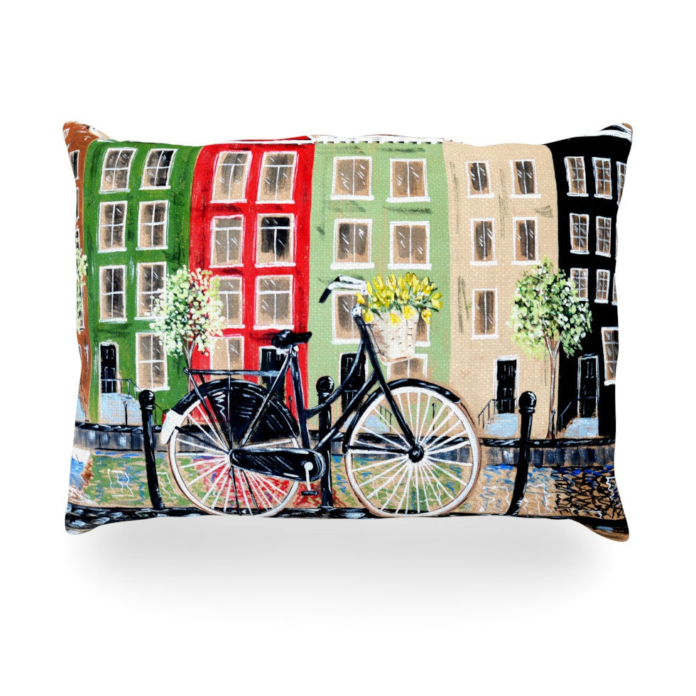 "Christen Treat ""Bicycle"" Oblong Pillow - KESS InHouse"