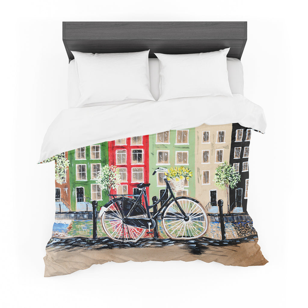 "Christen Treat ""Bicycle"" Featherweight Duvet Cover"