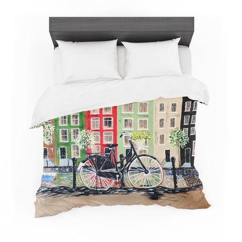 "Christen Treat ""Bicycle""  Featherweight Duvet Cover - Outlet Item"