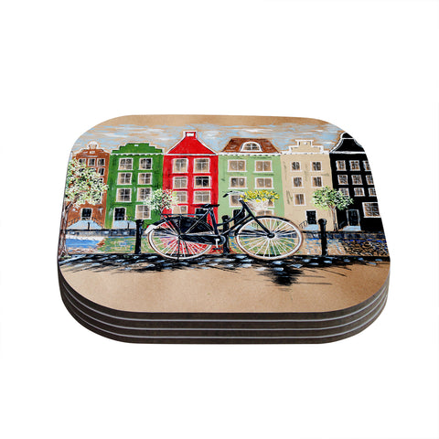 "Christen Treat ""Bicycle"" Coasters (Set of 4) - Outlet Item"